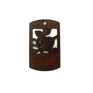 wooden charm stained-joy 43mmx25mm