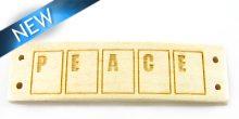 """Message bracelet """"peace"""" component white"""