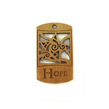 wooden charm natural-hope 43mmx25mm