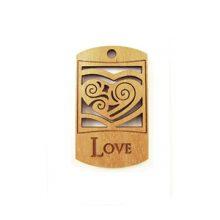 wooden charm natural-love 43mmx25mm
