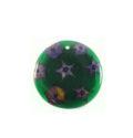 Cinderella seeds inlay round green 34mm