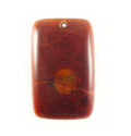 Albutra wood inlay 40X25mm cracking red