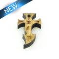 Mahogany wood cross laser designed 12mm