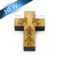 Mahogany wood cross laser designed 15mm