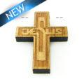 Mahogany wood cross laser designed 22mm