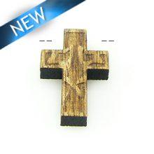 Mahogany wood cross laser designed 14mm