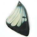 Laminated butterfly print Black and White wholesale