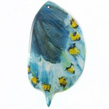 Laminated butterfly print Turquoise wholesale