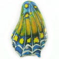 Laminated butterfly paper print Yellow Blue