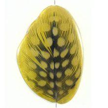Nangka wood resin w/ guinea fowl feather