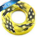 Nangka wood donut w/ guinea feather 51mm