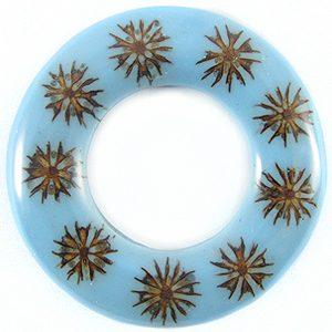 Majong-majong seeds inlay donut blue