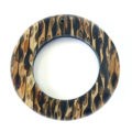 "Shell Pendants ""O"" Ring 45mm With Corn Inlay"