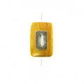 Nangka rectangle design 30x20mm / A-silver