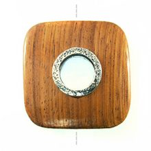 Bayong rounded edge sqr w/ silver metal