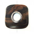 Kamagong rounded edge sqr w/ silver metal