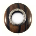 Kamagong round 50mm / A-Silver metal