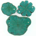 Sunflower wood 54x40mm turquoise green