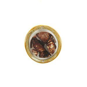 wholesale Bamboo cuts w/ broken capiz choco pendants