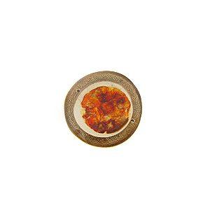 wholesale Bamboo cuts w/ broken capiz rust pendants