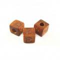 "Bayong Alphabet Wood Bead 8mm ""E"""