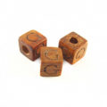 "Bayong Alphabet Wood Bead 8mm ""G"""