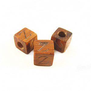 "Bayong Alphabet Wood Bead 8mm ""Z"""