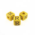 "Nangka Alphabet Wood Bead 8mm ""R"""