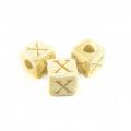 "White-wood Alphabet Wood Bead 8mm ""X"""