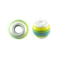 wholesale wood round yellow/green combi
