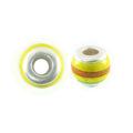 wholesale wood round yellow/orange combi