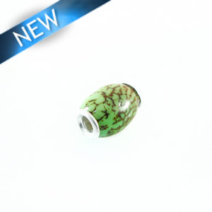 Pandora-style salwag 16x18mm lime green wholesale