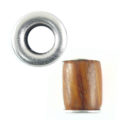 wholesale wood round 17mm x 15mm multicolor