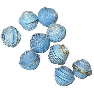 LS-Blue Bicone Paper Beads 6-10mm wholesale