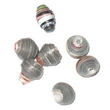 LS-Black Bicone Paper Beads 6-10mm wholesale