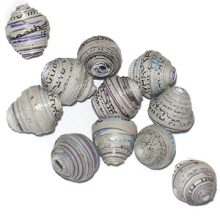 LS-Gray Bicone Paper Beads 6-10mm wholesale