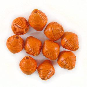 LS-Orange Bicone Paper Beads 6-10mm wholesale