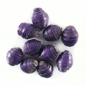 LS-Purple Bicone Paper Beads 6-10mm wholesale