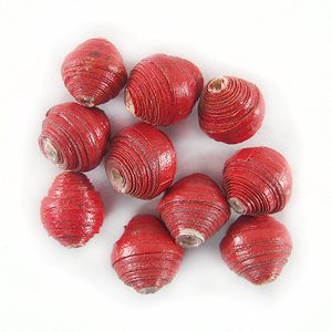 LS-Red Bicone Paper Beads 6-10mm wholesale