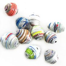 LS-Rainbow Colord bicone Paper Beads wholesale