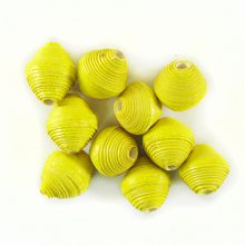 LS-Yellow Bicone Paper Beads 6-10mm wholesale