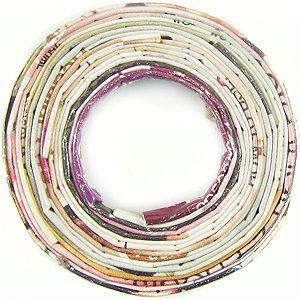 paper beads donut multi color 40mm wholesale pendants
