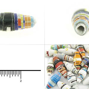 paper bead bicone 8mmx18mm wholesale beads