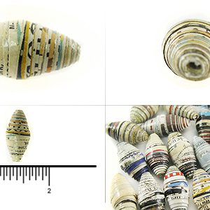 paper bead large bicone 12-15mmx20-28mm wholesale beads