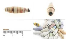 paper bead elongated 4mmX13-14mm wholesale beads