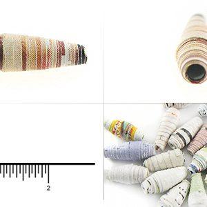 paper bead elongated 4mmX13-14mm wholesale beads