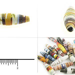 paper bead elongated 8x26-28mm wholesale beads