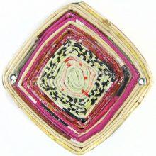 paper beads dia pen multi color 35x35mm wholesale beads