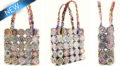 "Tote bag 9x8"" w/ PPB1346 component wholesale bags"