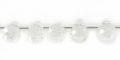 crystal faceted briollete 6x8mm wholesale gemstones